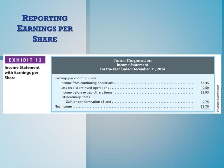 Reporting Earnings per Share