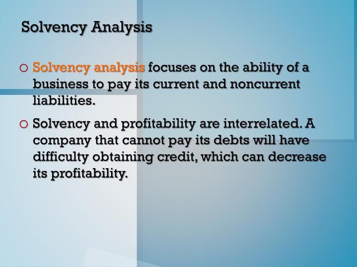 Solvency Analysis