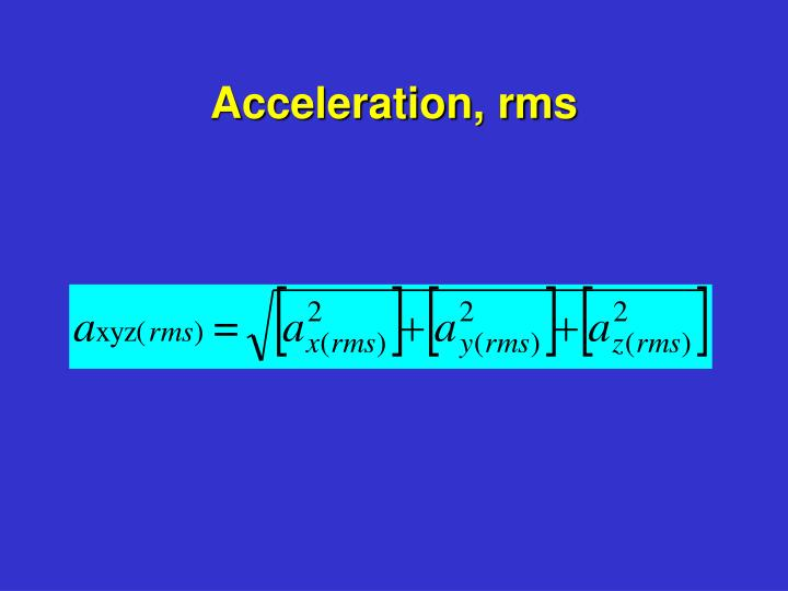 Acceleration, rms
