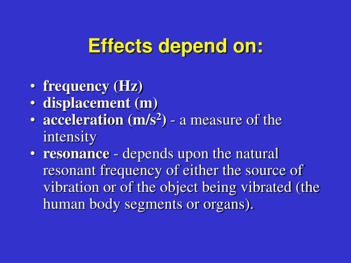 Effects depend on: