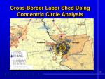 cross border labor shed using concentric circle analysis