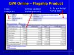 qwi online flagship product