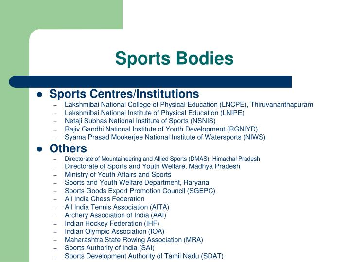 Sports Bodies