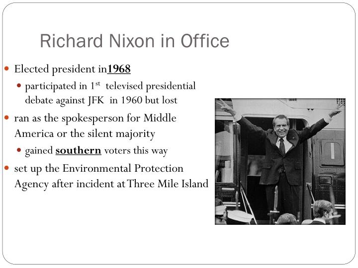 the leadership of richard nixon in america Richard milhous nixon was the thirty-seventh president of the united states and the only president to ever resign from office both china and the soviet union, cut back on their diplomatic support for vietnam and advised hanoi to reach an agreement with america.
