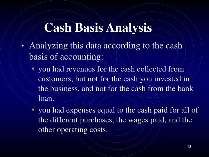 Cash Basis Analysis