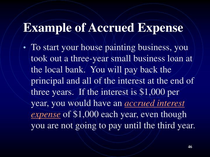 Example of Accrued Expense