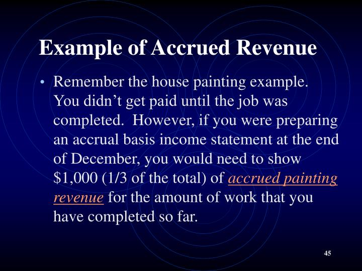 Example of Accrued Revenue