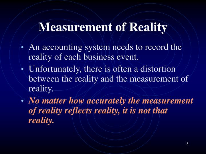Measurement of reality