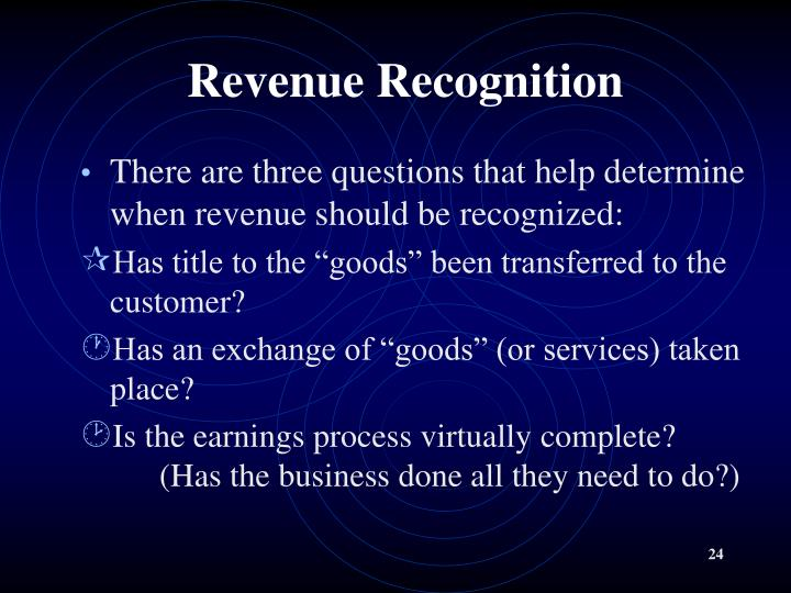 Revenue Recognition