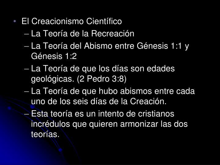 El Creacionismo Científico