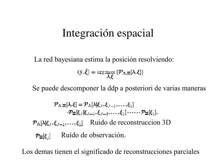 Integración espacial