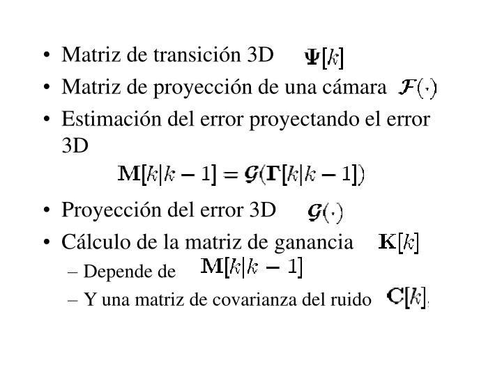 Matriz de transición 3D