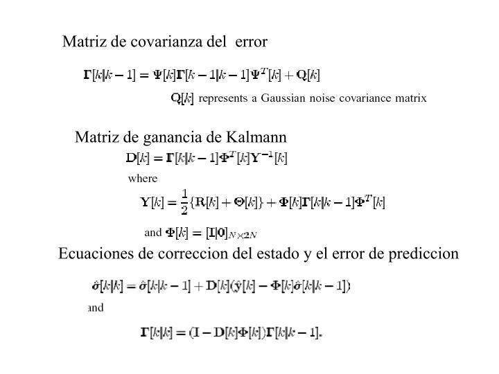 Matriz de covarianza del  error