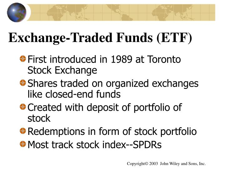Exchange-Traded Funds (ETF)