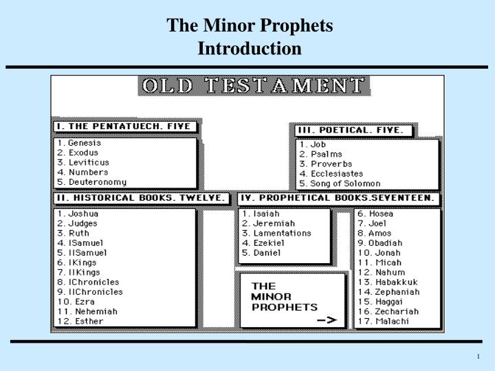 the minor prophets introduction n.