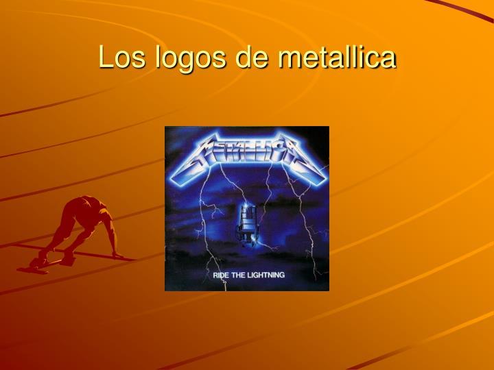 Los logos de metallica