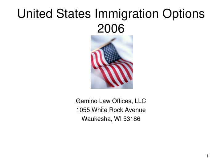 united states immigration options 2006 n.