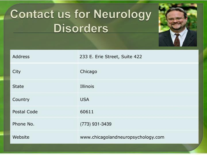 Contact us for Neurology Disorders