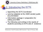 2 introducing the ects