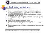 4 following activities