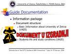 guide documentation
