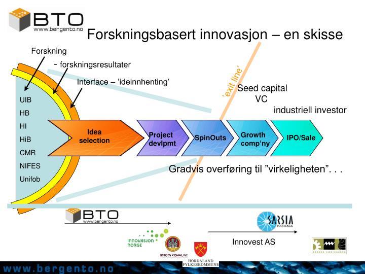 Forskningsbasert innovasjon – en skisse