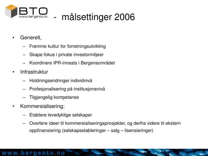 -  målsettinger 2006