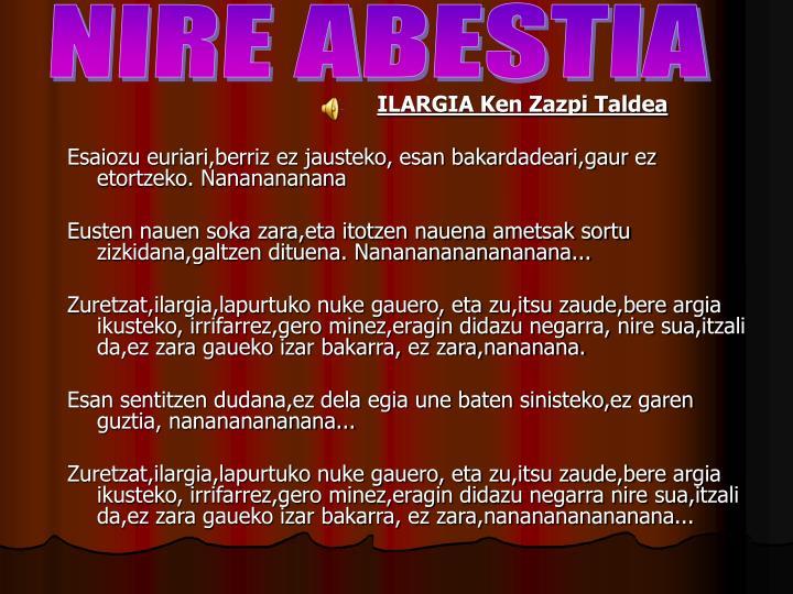 NIRE ABESTIA