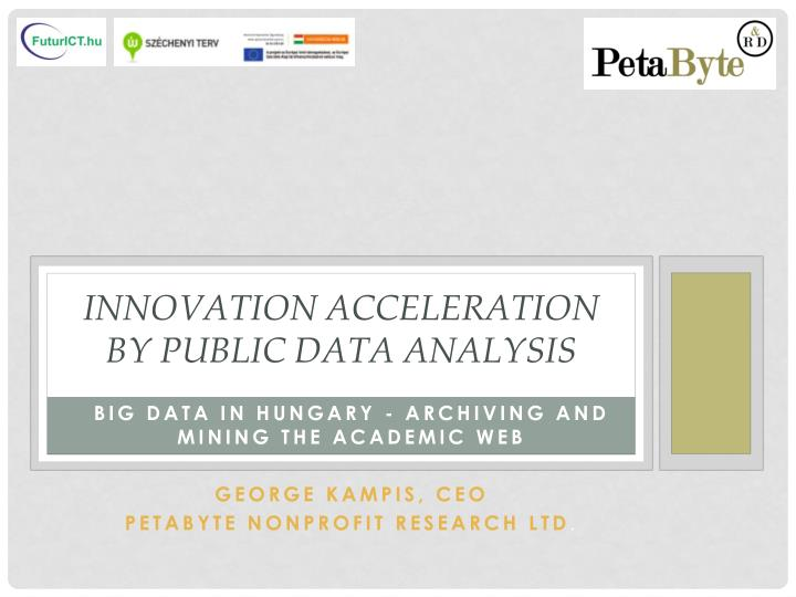 innovation acceleration by public data analysis n.