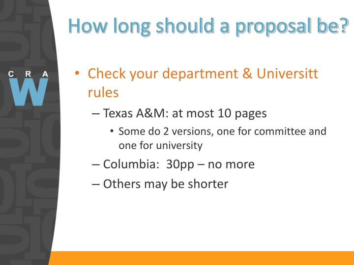How long should a proposal be?