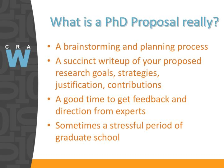 What is a PhD Proposal really?