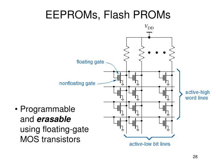 EEPROMs, Flash PROMs
