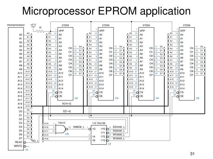 Microprocessor EPROM application