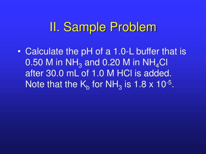 II. Sample Problem