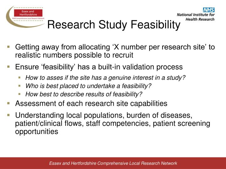 Research Study Feasibility