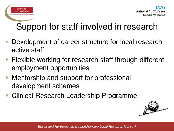 Support for staff involved in research