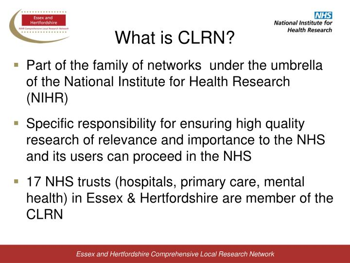 What is CLRN?