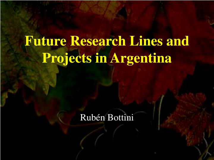 Future Research Lines and Projects in Argentina