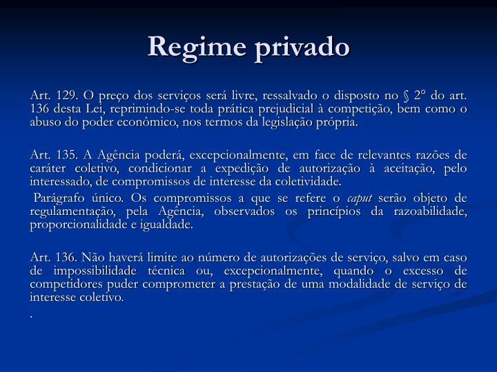 Regime privado