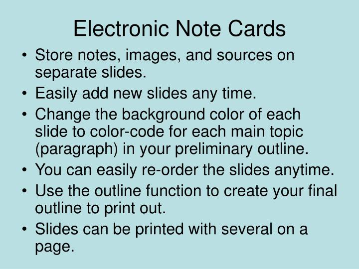 electronic note cards n.