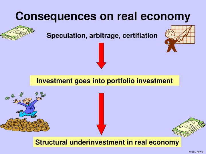 Consequences on real economy