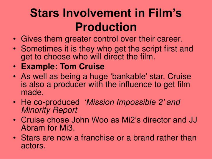 Stars Involvement in Film's Production