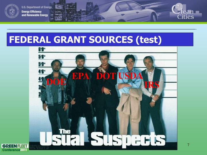 FEDERAL GRANT SOURCES (test)