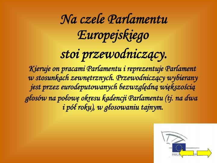 Na czele Parlamentu Europejskiego