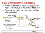 fully differential vs traditional