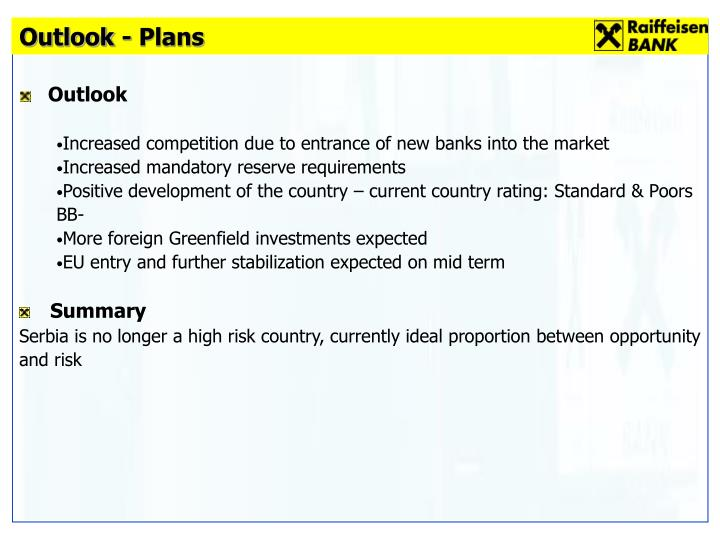 Outlook - Plans