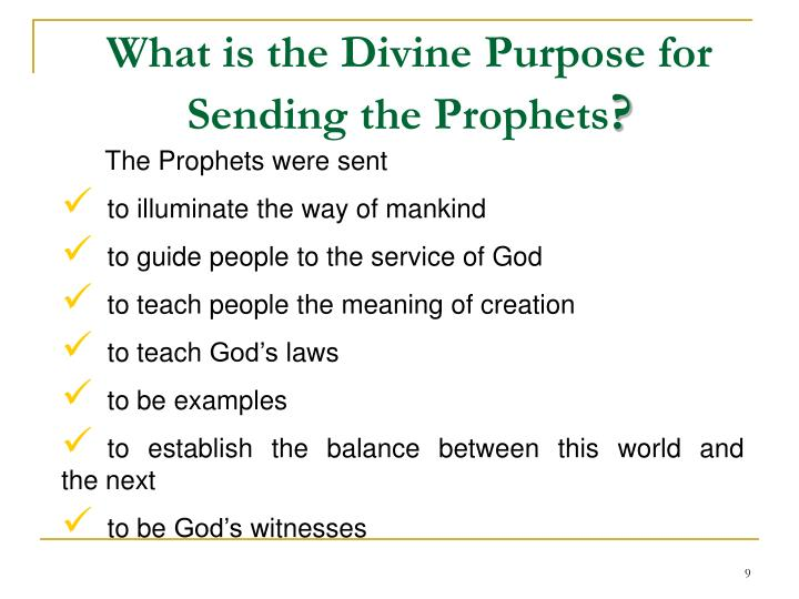 Beliefs about Prophethood (Nabuwa't and Risalat)