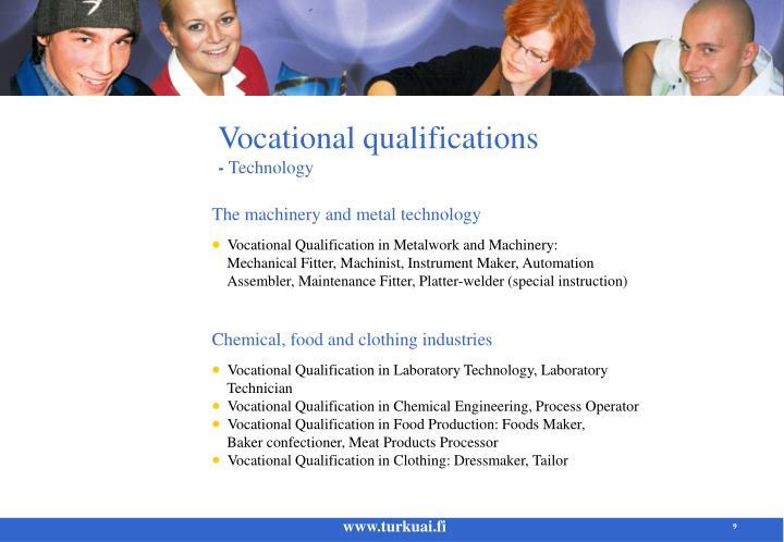 Vocational qualifications