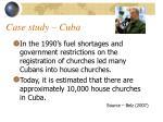 case study cuba