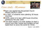 case study myanmar